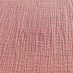 Tissu avec gaze coton rose